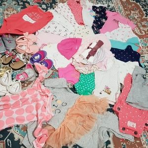 Other - New born baby girl clothes and shoes
